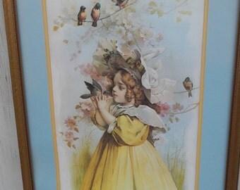 Tall Vintage Victorian Framed Print!