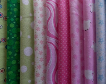 """Baby Flannels Fabric 30 Piece 10"""" Squares Layer Cake Quilt Fabric Baby Blanket"""