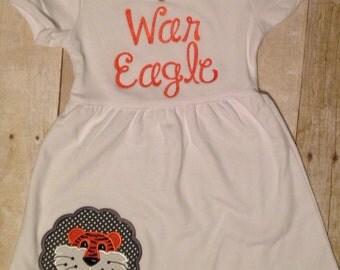 Auburn Tigers War Eagle Toddler Infant Girls Dress
