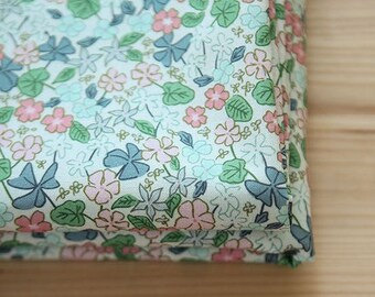 Pink Flower Pattern Cotton Fabric by Yard