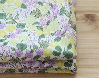 Yellow Flower Pattern Cotton Fabric by Yard
