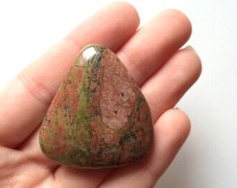 Unakite palm smoothstone worry stone