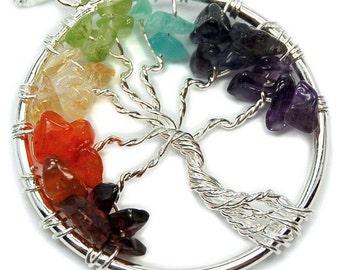 Tree of Life Pendant -7 Chakra Pendants