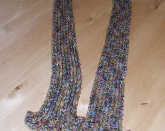 Variegated Multi-colored Knit Filippi Scarf