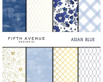 Asian Blue - Digital Paper