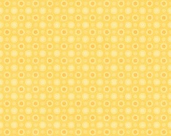 45'' Henry Glass & Co. Cuddle Bug Yellow Monotone Dot Flannel by the Yard 6699-44