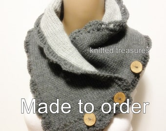 Reversible Super Thick Very Soft Neckwarmer Wool Blend Not Itchy Please Choose Your Color For Side One And Sice Two