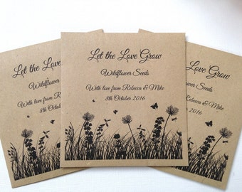 Wild Flower Seed Wedding Favour