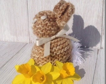 Knitted Easter Bunnies - Creme egg cover