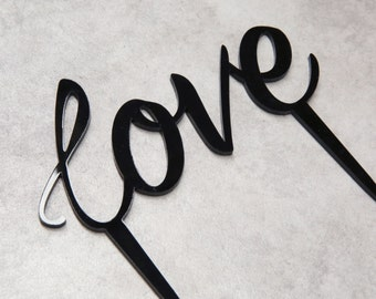 Love Topper Various Colours Available, Wedding Cake Topper