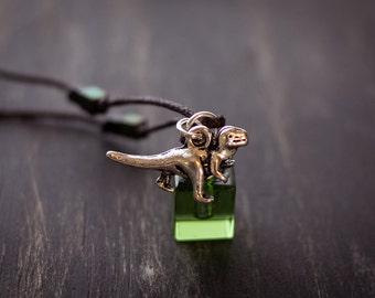Boy's T-Rex  Essential Oil Necklace
