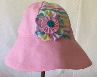 Cotten baby girl sun hat