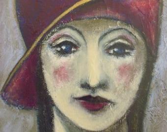SOLD - Original Acrylic Painting, 1920's, Art Deco.