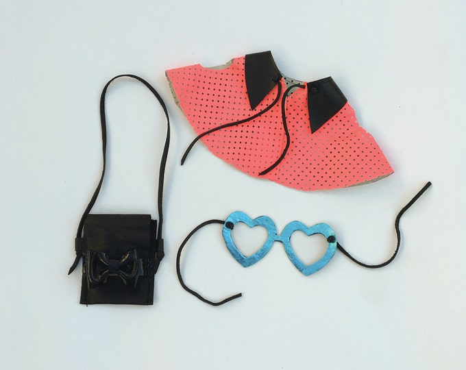 Leather doll clothes