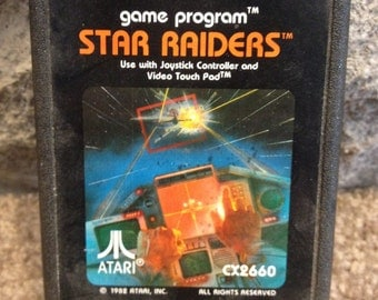 Vintage 1982 ATARI STAR RAIDERS Game Program - Use with Joy Stick Touch Pad