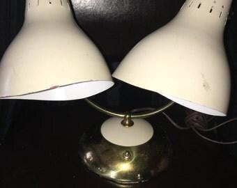 Vintage Double Gooseneck Desk lamp made by Engelite