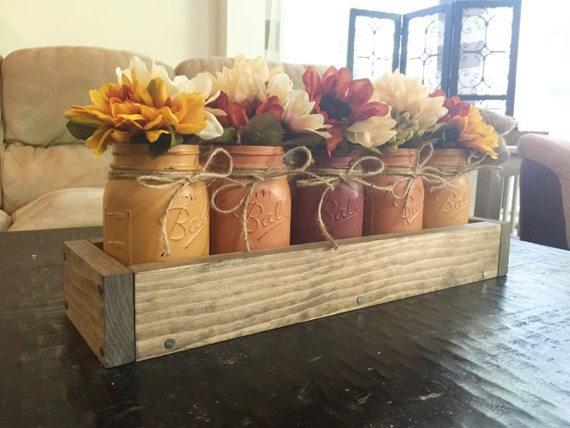 Items similar to mason jar centerpiece farmhouse decor