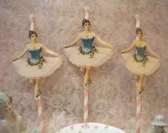 Ballerina Cup Cake / Dessert Toppers (6)
