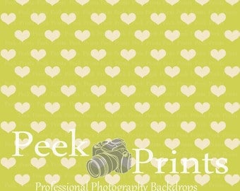 5ft.x5ft. All About Those Hearts Light Green Valentine Backdrop - Light Green Hearts Valentines Day Backdrops
