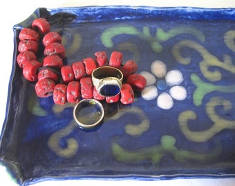 Hand Made Vintage Ceramic Catchall Tray