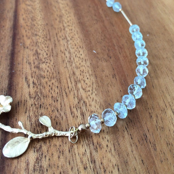 Aquamarine gemstone necklace, Aquamarine bridal necklace, cocktail necklace, march birthday necklace