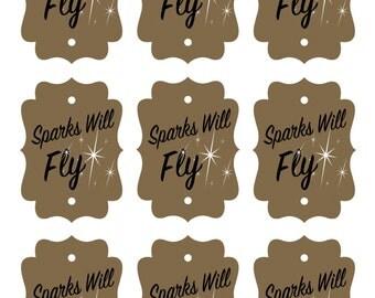 Sparks Will Fly Printable Sparkler Tag