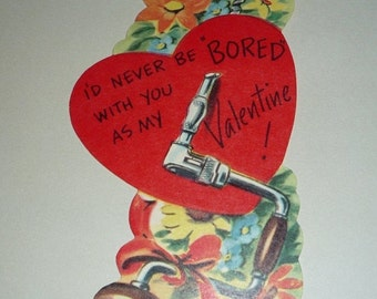 on sale I'll Never Be Bored With You As My Valentine Vintage Card