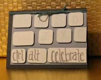 Computer Keyboard Birthday card