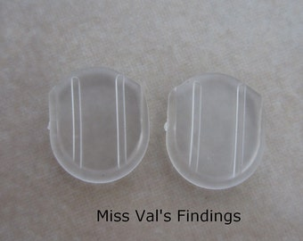 24 clear comfort pads for clip on earclips
