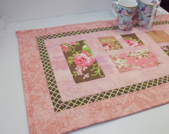 SALE! Quilted Table Runner, Patchwork Shabby Chic Table Runner, Patchwork Table Runner