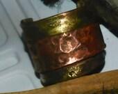 Mens Cuff brass and panacea gold huge HANDMADE statement cuff
