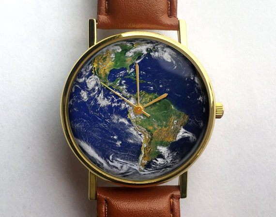 Planet Earth Watch Unisex Watch Ladies Watch Men's
