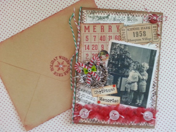 Madeline S Memories Vintage Christmas Cards: Christmas Card Vintage Style Kids Christmas Memories