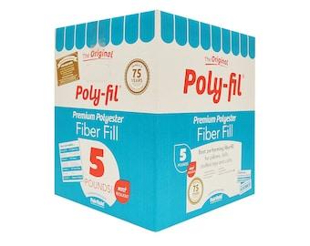 5 lb Box Poly-fil by Fairfield 5 pound box bulk Poly-Fil® Premium Fiber Fill stuffing, bulk stuffing filling, filler poly fill, fiber fill