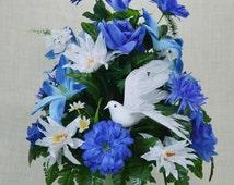 No.C05  Spring Cemetery Arrangement. , Spring Cone Flower, Cone Arrangement,Grave,   Tombstone arrangement,  Cemetery flowers