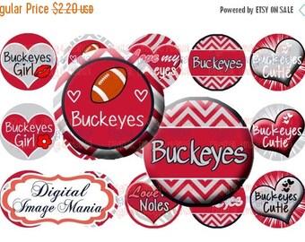 HUGE SALE INSTANT Download Buckeyes 4x6 Digital Printable 1 Inch Circle Bottle Cap Images (105)