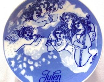 Porsgrund Christmas Plate - 1983 - Christmas Night - Vintage Plate - Collectors Plate