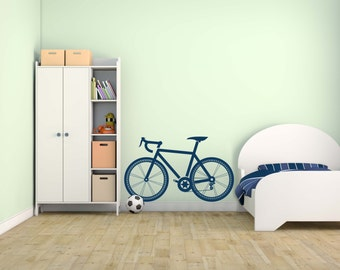 Children's Sport Bicycle Vinyl Wall Decal for Home Decor