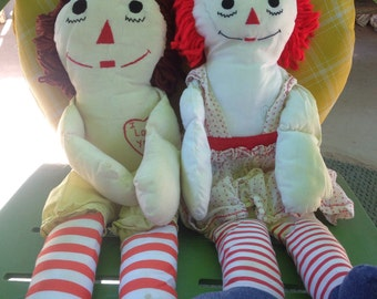 Raggedy ann doll, raggedy ann and andy dolls, 1970s raggedy ann, vintage dolls, handmade dolls, doll pattern, dolls, project doll