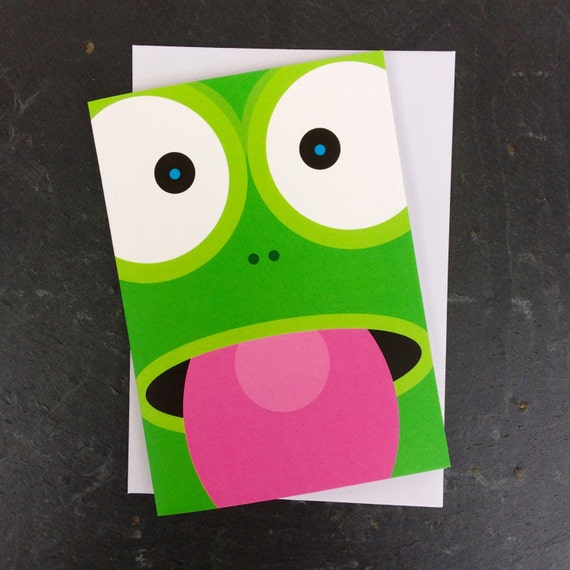 funny frog card, cute frog card, child's frog card, kids frog card