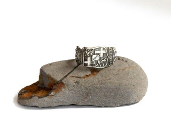 netherlands ring,  utrecht ring, silver plate ring, spoon ring