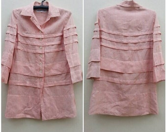 Rare Vintage 49AV Junko Shimada Linen Dress Size 9 Small - Medium