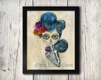 Dia de Los Muertos Skelly Fine Art Print