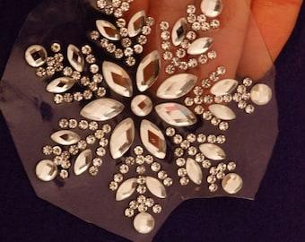 2 rhinestone applique patch iron on glass crystal hotfix dancing fancy dress making-07