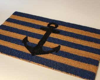 Nautical Rope Doormat Welcome Mat Small 14 X