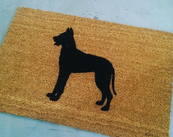 Great Dane Dog Doormat (size opts)