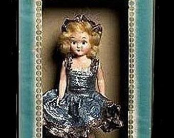 Virga Doll Hard Plastic 1950s Ice Skating Queen in Box