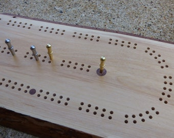 Cribbage Board/Wall Art With Inner Bark - Birch 2-Player