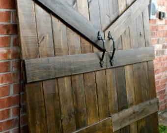 Barn Door Headboard - Rustic Elegance!