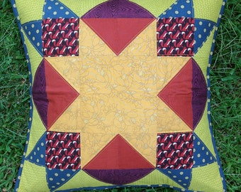 Foxes Quilty Pillow